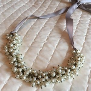J. Crew pearl cluster ribbon necklace